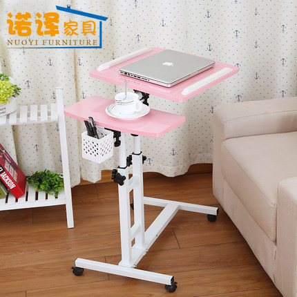 LK363 High Quality Folding Metal Laptop Stand Height Free Lift Laptop Table for Bed Sofa Office Rolling Computer Lap Desk