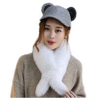 2019 Genuine real Fox Fur Scarf 100% Real Fox Fur Collar Fur Ring Muffler Women Fur Stole Neck Warmer customized Colors