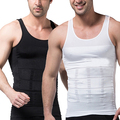 Homens Emagrecimento Shaper Do Corpo Da Cintura Corset Regatas Vest Shapewear