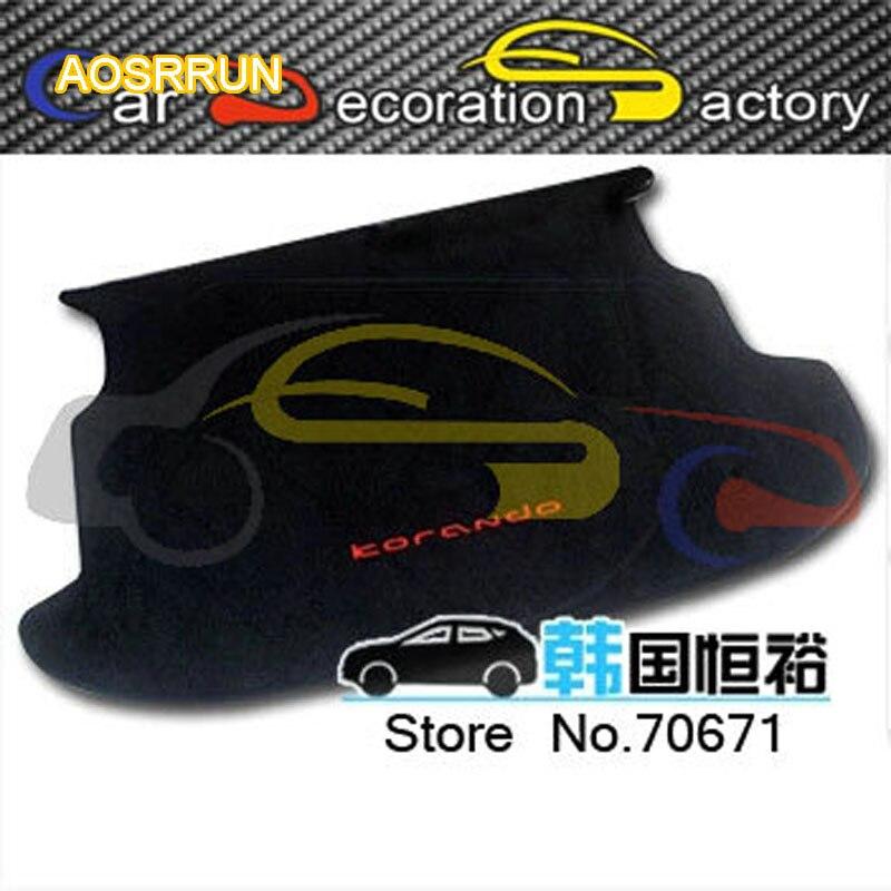 Aosrrun импорт посвященный коврик багажника хвост коробка для SsangYong Korando 2014 2015 Тюнинг автомобилей Автозапчасти Интимные аксессуары охватывает