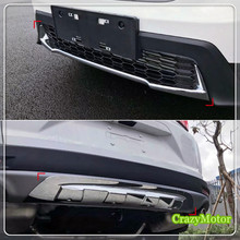 For Honda CRV 2017 2018 ABS Chrome Front+Rear Bumper Skid Protector Plate Trim Car Styling Accessories