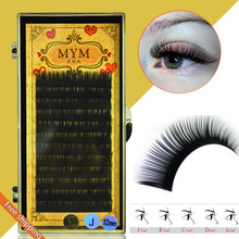 Free shipping 0.05 J/B/C/D Curl Mink Eyelash Extension Thin and Soft Materail 3d 6d Voluming lashes 1 Tray Lashe Eyelashs(China)
