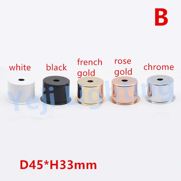 E27 абажур для люстры, светодиодные подвесные потолочные светильники, ретро винтажная розетка, железная металлическая чашка для E26, пластиковый держатель лампы