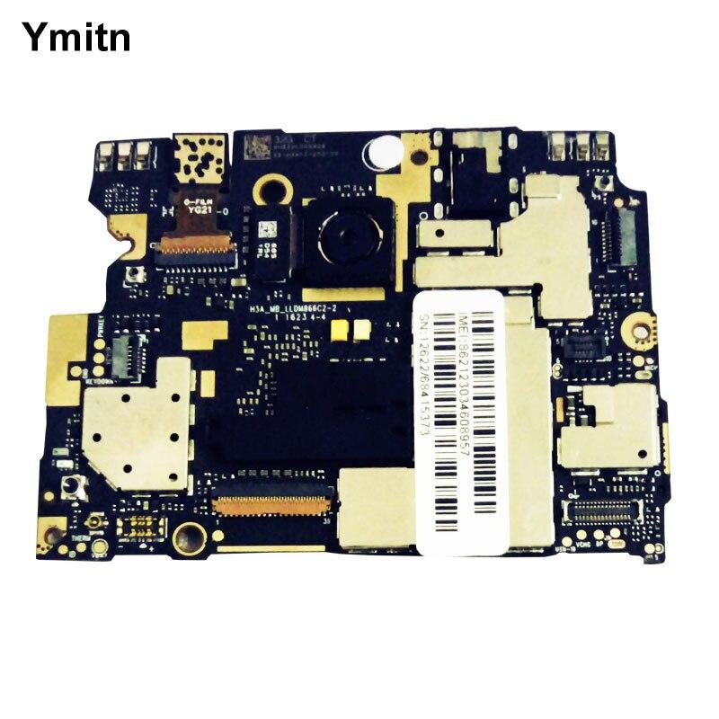Ymitn débloqué Électronique panneau carte mère Carte Mère Circuits flex Câble Pour Xiaomi RedMi hongmi Note 3 Note3 Snapdragon 650