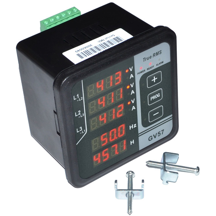 GV57 Three phase Generator Digital Multifunctional Meter Current Voltage Frequency Tester Free Shipping 12001846