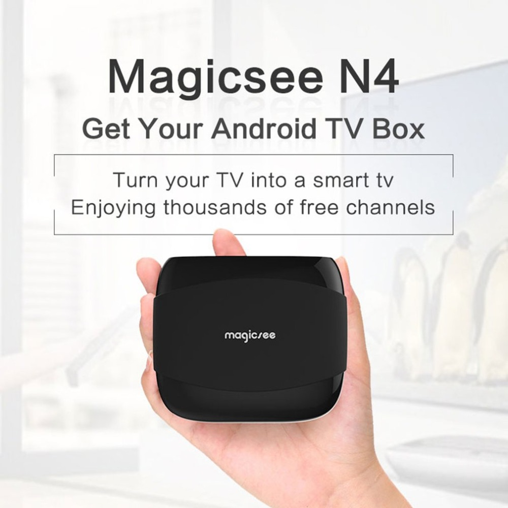 MAGICSEE N4 Android TV Box Amlogic S905X Android 7.1.2 2 GB RAM 16 GB ROM 2.4G 5G Smart tv-box 4 k H.265 décodeur double bande