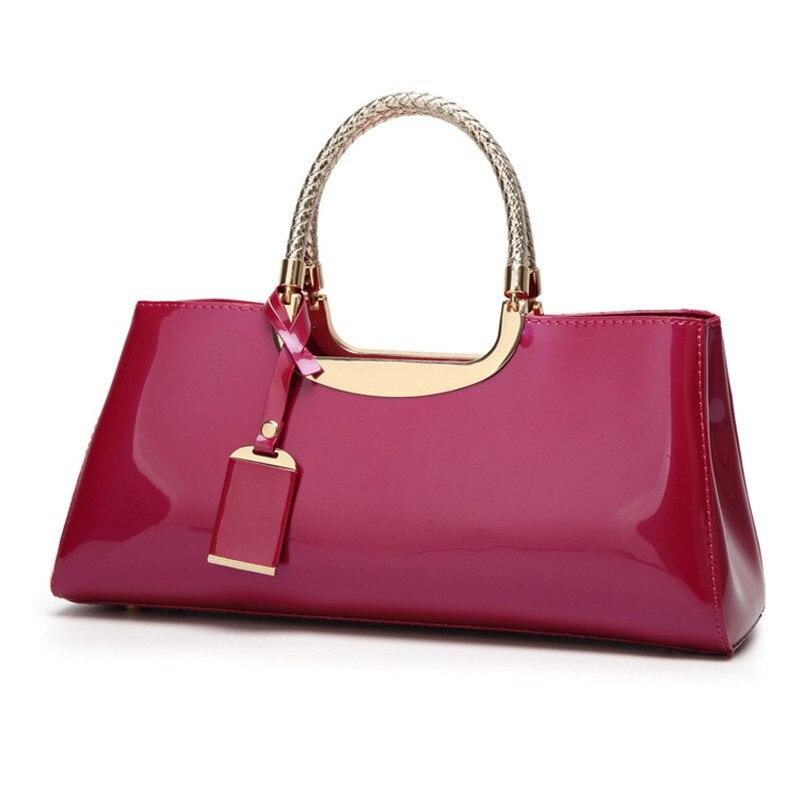Image 5 - High Quality Patent Leather Women Bag Travel Shoulder bag for  women 2018 Tote Italian Leather Handbags Sac A Main bolsa  femininaTop-Handle Bags