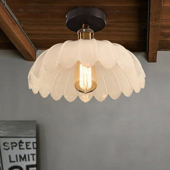 LOFT Mediterranean American Country Vintage Iron Ceiling Light Bedroom Balcony Lamp Dining Room Light