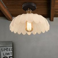 LOFT Mittelmeer Amerikanischen Land Vintage Eisen Decke Licht Schlafzimmer Balkon Lampe Esszimmer Licht