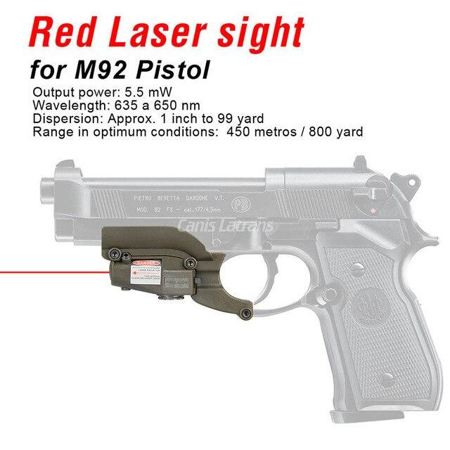 PPT noir Tan tactique rouge visée Laser pour M92 avec rainures latérales pour Beretta modèle 92 96 M9 GZ200020