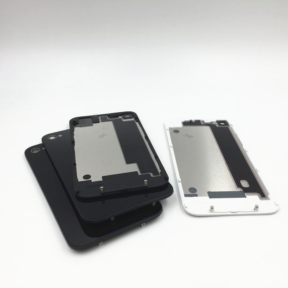 RTBESTOYZ New Rear Glass Battery Door Housing With Logo Replacement Back Cover For Iphone 4 4G 4S Phone Back Cover Case