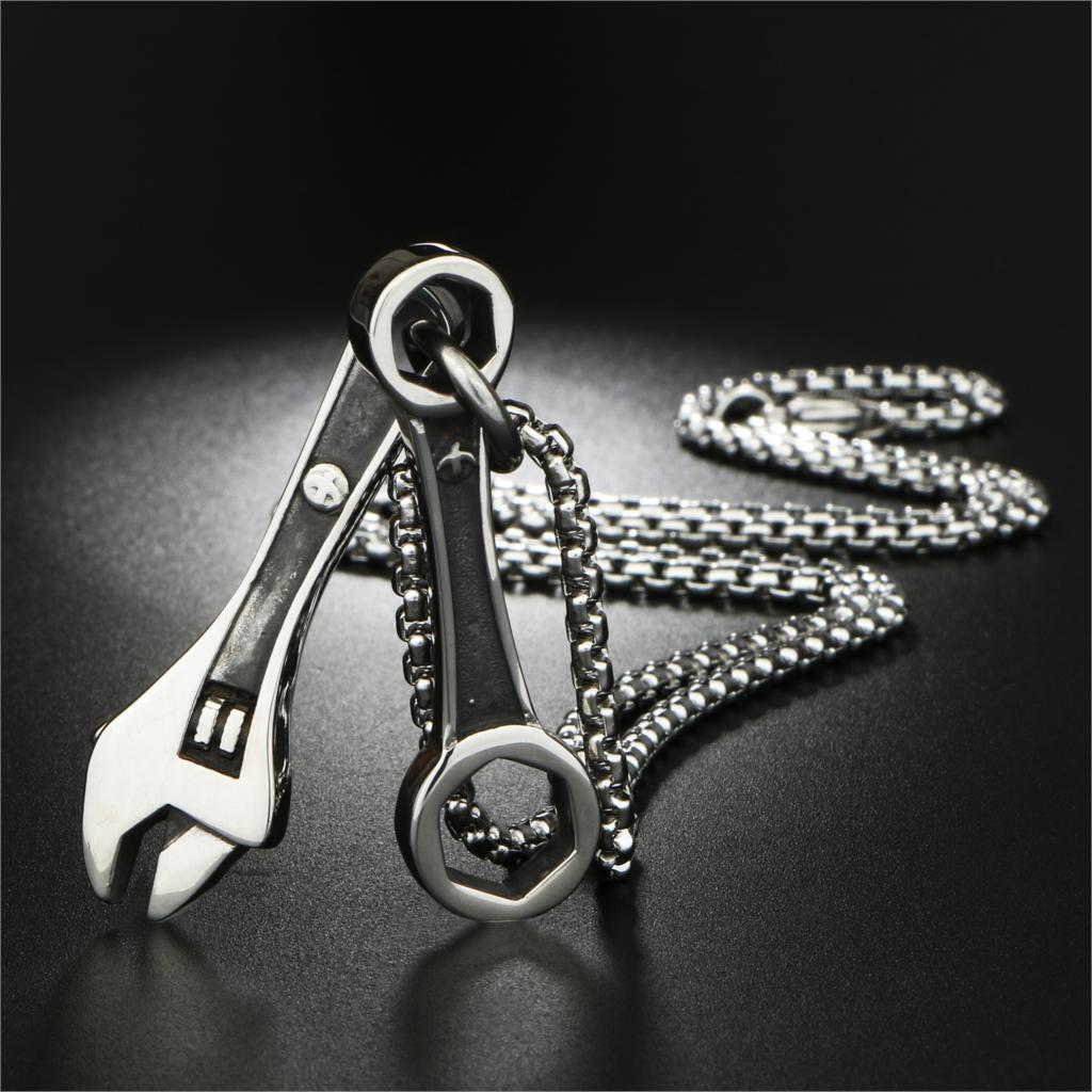 geekoplanet.com - Stainless Steel Wrench & Spanner Pendants Necklace