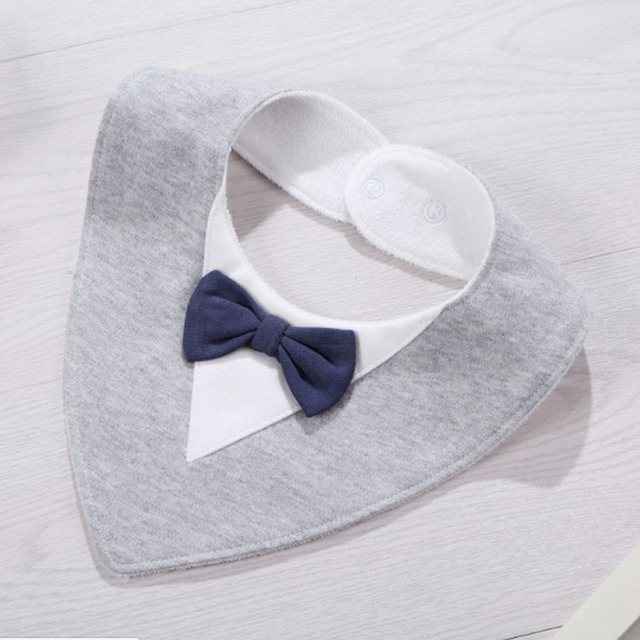 Bib Baby Triangle Scarf Bibs New born Baberos Babies Bavoir Towel Waterproof Gray Infant Clothes 0-24 months