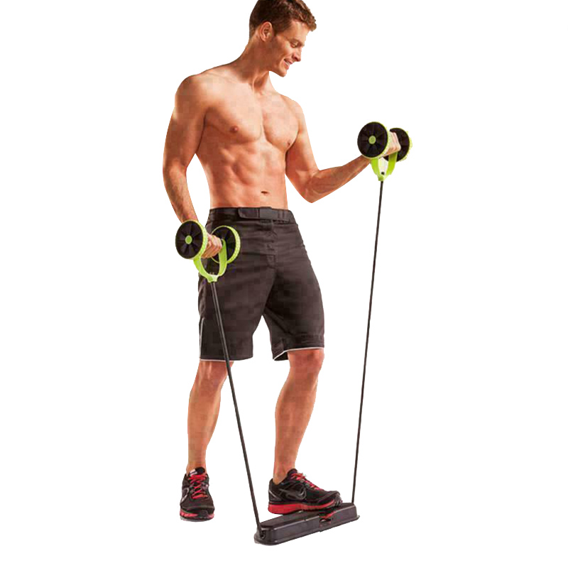 2019 Fitness Wheels Roller Elastic Abdominal Muscle Resistance Pull Rope For Training Exercise Home DX88