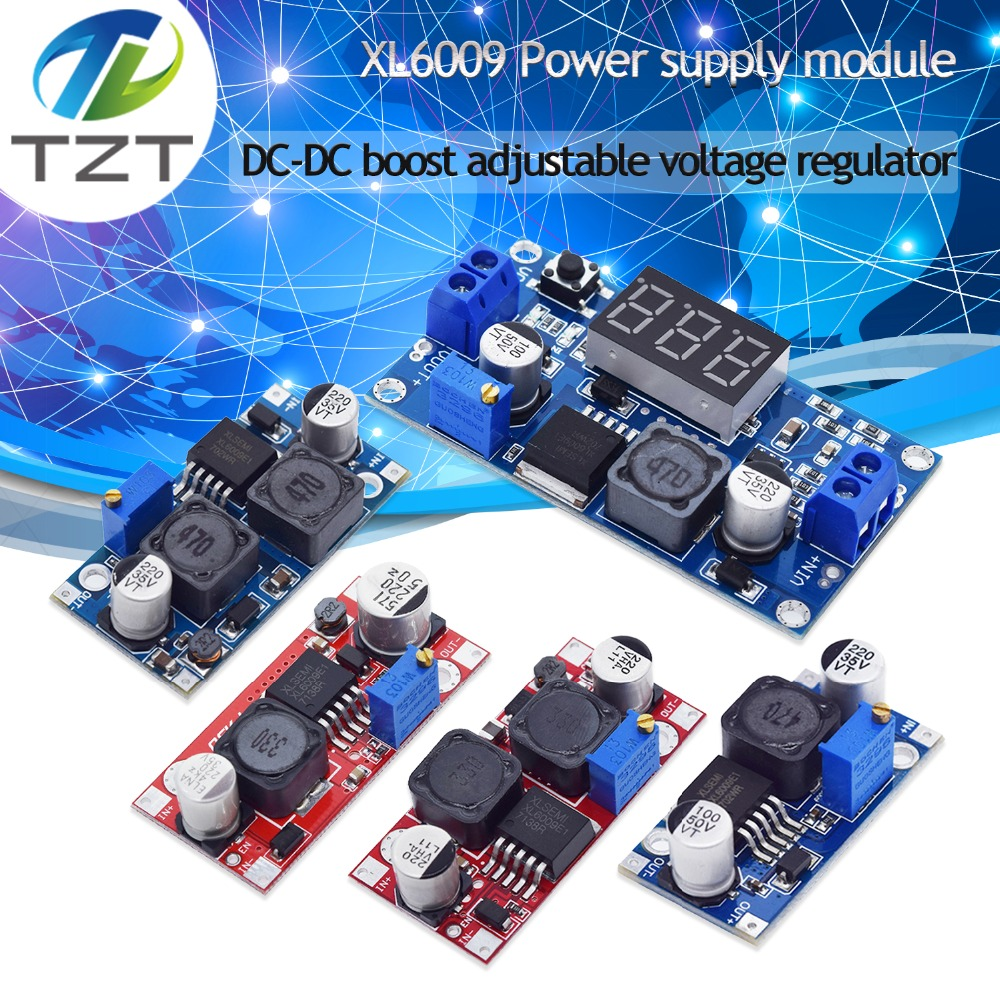 XL6009 Boost Converter Step Up Adjustable 15W 5-32V To 5-50V DC-DC Power Supply Module High Performance Low Ripple