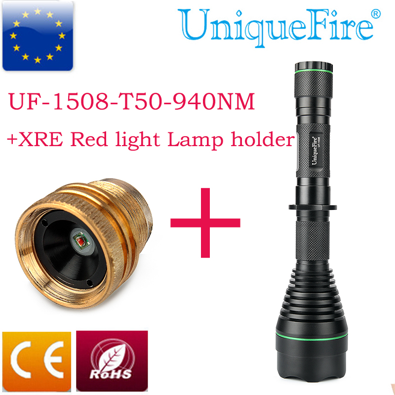 ФОТО 2016 Special T50 Flashlight 1508 Infrared Invisble Torch Lamp for Night Vision+XRE Red Light Lamp Profession Hunting 940nm Light