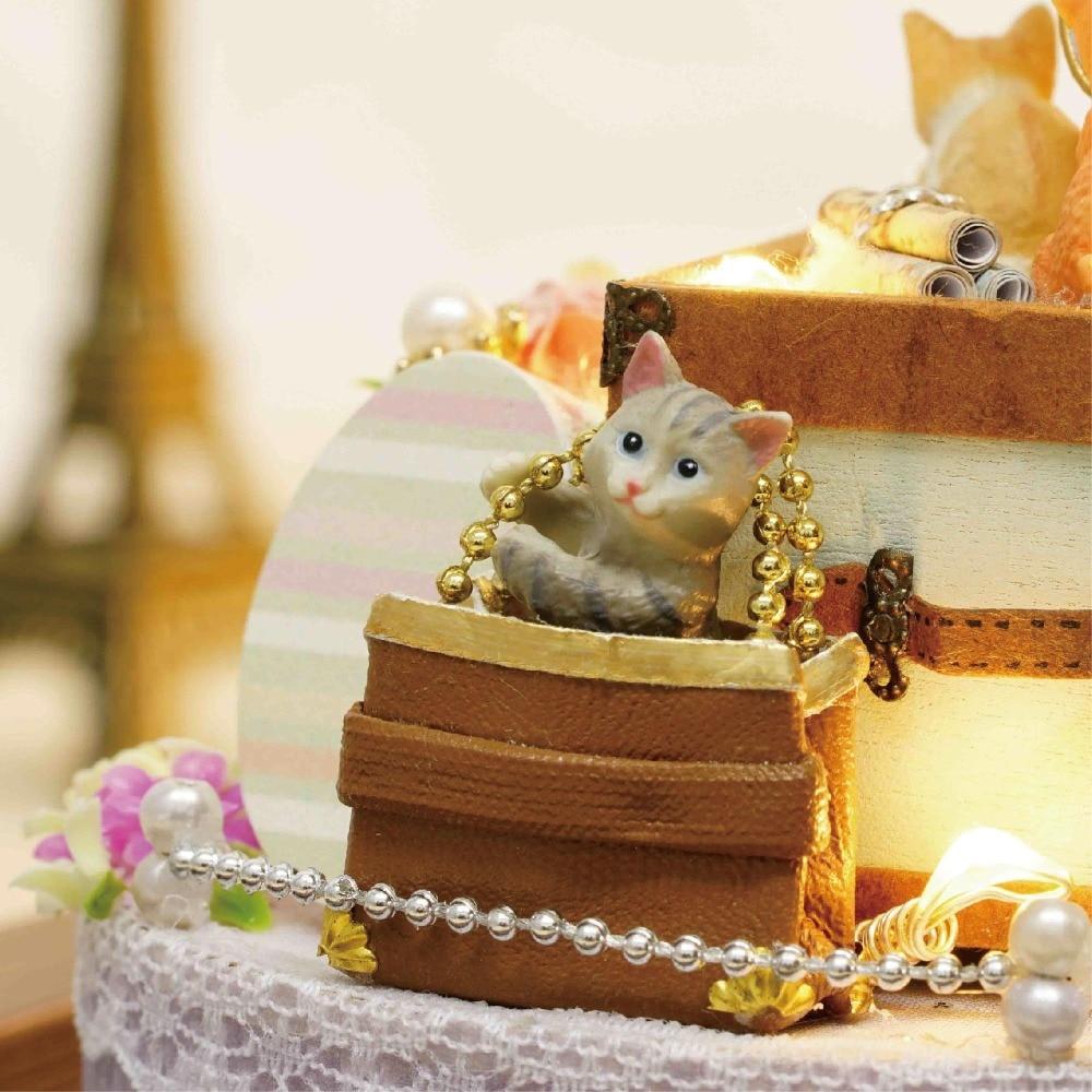 DIY Miniature Dollhouse CANDY CAT CADEAU BOÎTE avec Mouvement - Poupées et accessoires - Photo 4
