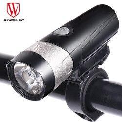 WHEELUP lampa rowerowa USB ładowalna latarka dla rowerów lampa przednia do roweru przednie światła zestaw MTB LED jazda na rowerze światło przednie w Oświetlenie rowerowe od Sport i rozrywka na