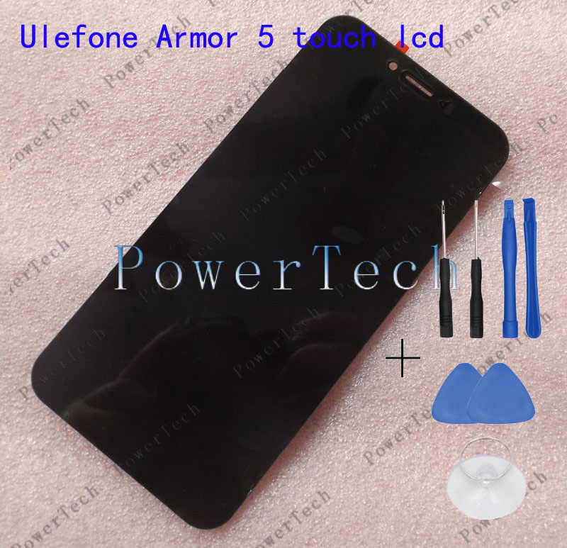 Geunuine Ulefone Armor 5 Front Panel Touch Glass Digitizer Screen with LCD display for ULEFONE armor 5 Cell Phone