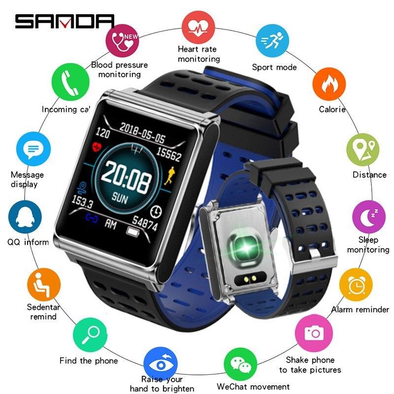 SANDA nouveau Fitness fréquence cardiaque montre intelligente hommes pression artérielle Smartwatch étanche Sport montre femmes pour IOS Android horloge