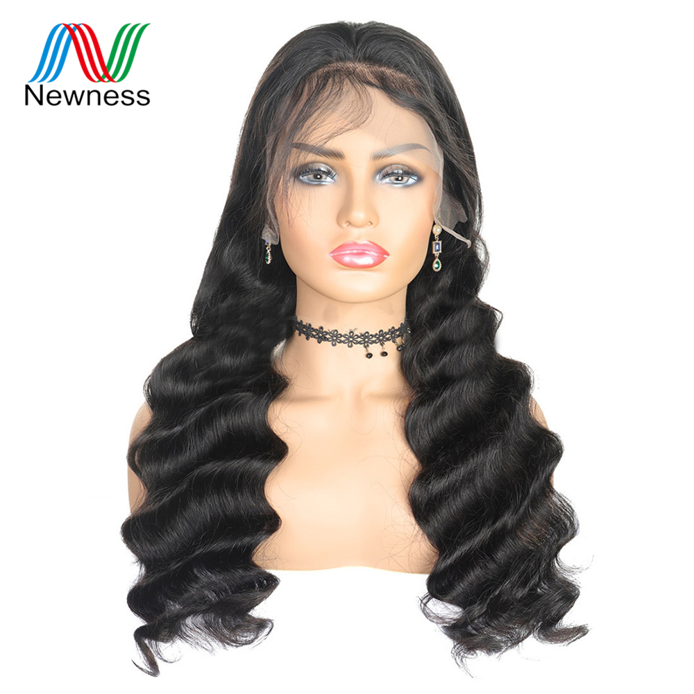 NEWNESS Hair Indian Ocean Wave Wig Glueless Full Lace Human Hair Wigs with Baby Hair 8A Remy Human Hair Wig For Women NEWNESS(China)