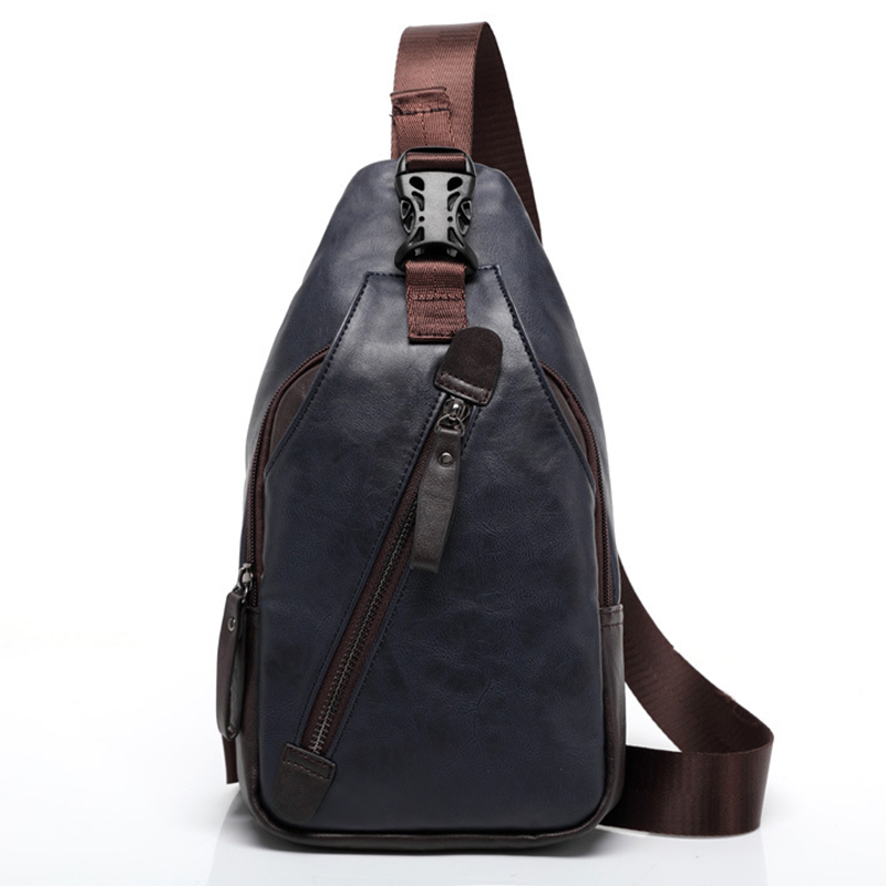 New Men Backpack Bag Design Mochila Travel Leather Backpacks for Men Chest Back Pack Male Cross Body Bags Bagpack Single Bolsas zznick 2018 new genuine cowhide leather backpack men school bags bagpack men s travel bags male backpacks laptop bag pack 3906 1
