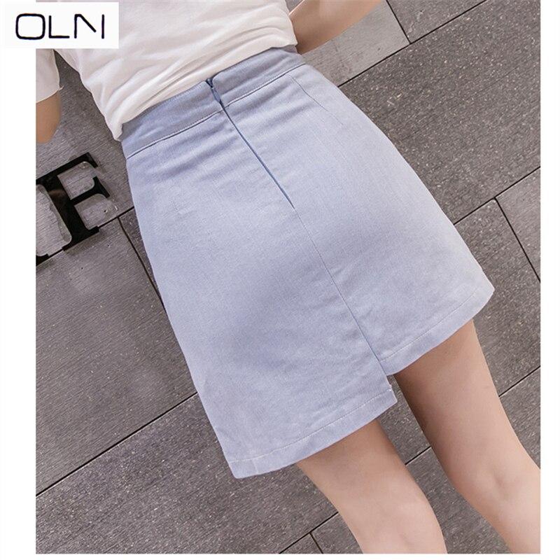 Skirt New Korean OLN high waist A-line skirt  female retro button Hong Kong flavor wind bag hip skirt