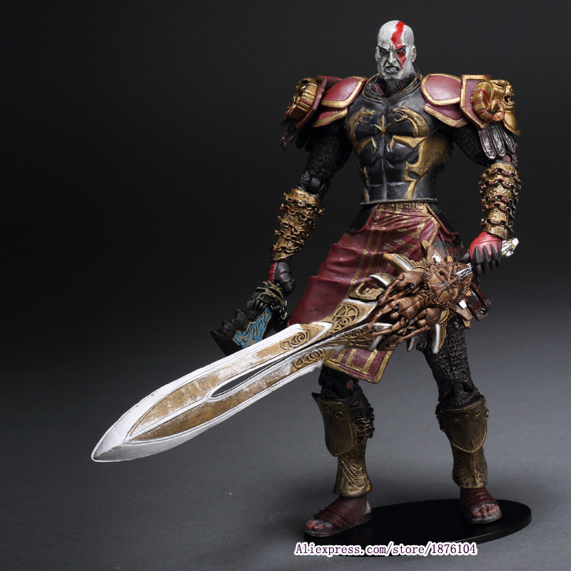 High Quality NECA God of War 2 II Kratos in Ares Armor W Blades 7 PVC Action Figure Toys Doll Chritmas Gift Brinquedos god of war statue kratos ye bust kratos war cyclops scene avatar bloody scenes of melee full length portrait model toy wu843