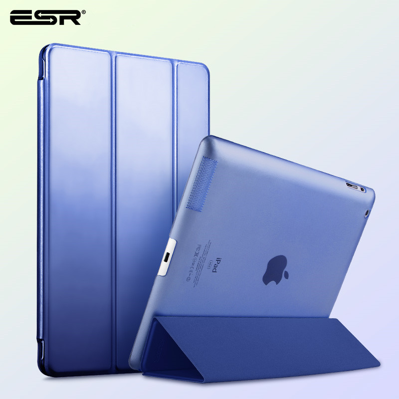 ESR for Apple ipad 2 3 4 Case Auto Sleep /Wake Up Flip PU Leather Cover for New ipad 2 ipad 4 Smart Stand Holder Coque Case case for mini 1 2 3 esr magnetic smart cover auto wake