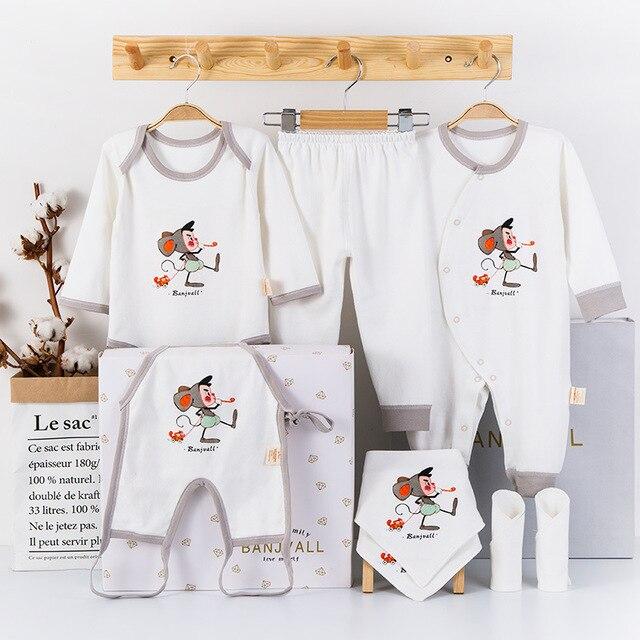 58b6de045 Newborn Baby Clothing Set 8 Pieces Gift Set Infant Underwear Suit ...