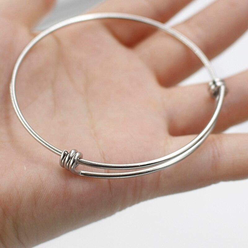 100%-Bracelet En Acier inoxydable Bracelet Extensible Bracelet Manchette Wholesale19cm 22 cm 50 pcs/lot