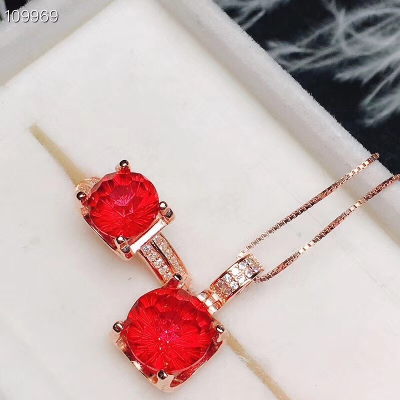 RedTopaz Jewelry set Natural and Real Redz Topaz Jewelry set  925 sterling silver 1pc pendant,1pc ringRedTopaz Jewelry set Natural and Real Redz Topaz Jewelry set  925 sterling silver 1pc pendant,1pc ring