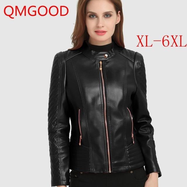 a39d20e197 QMGOOD-Automne-Hiver-Femmes-En-Cuir-de-Veste-6XL-Grande-Taille-Femme-Manteau-Faux-Cuir-Moto.jpg_640x640.jpg