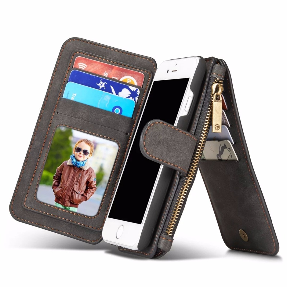 Genuine leather 4- 4.7 Wallet Pouch Fundas card pocket for iPhone 5s SE 6 6s 7 Samsung S7 PU Leather with Card Slot Luxury Case