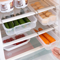 Drawer type refrigerator storage box creative plastic tray kitchen fruit food compartment racks crisper