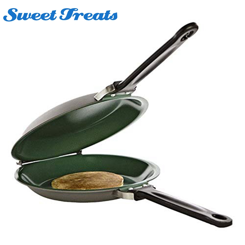 Non-stick Flip Pan Ceramic Pancake Maker Cake Porcelain Frying Pan Nonstick Healthy General Use For Gas And Induction Cooker Сковорода