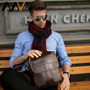 Image 5 - MVA hommes en cuir véritable sac sacs à bandoulière pour hommes sac de messager hommes en cuir de mode hommes sacs à bandoulière hommes sacs à main 1121