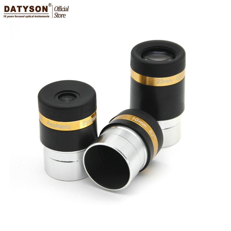 Aspheric Eyepiece Telescope HD Wide Angle 62 Degree Lens 4/10/23mm Fully Coated for 1.25 31.7mm Astronomical Telescope swa 1 25inch 15mm super wide angle 70 degree eyepieces for astronomical telescope five elements fully coated high index glass