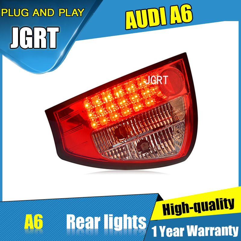 2PCS Car Styling for Audi a6 Tail Lights 2001-2004 for A6LLED Tail Lamp+Turn Signal+Brake+Reverse LED light 2pcs for vw sharan 2001 2002 2003 2004 2005 car styling side marker turn signal light lamp repeater