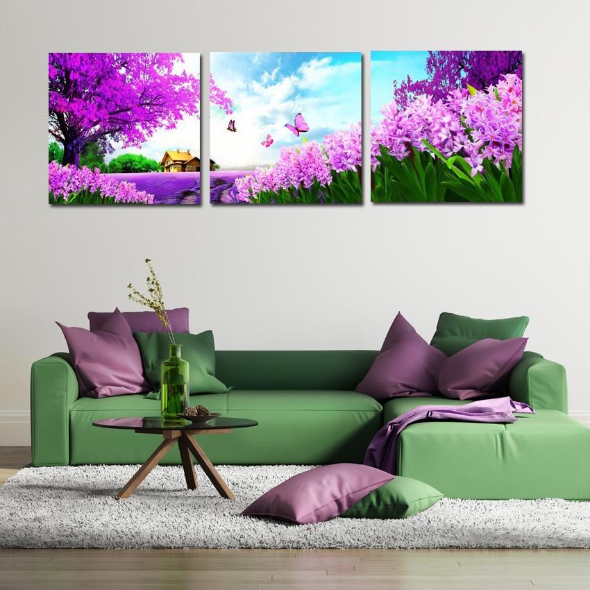Purple Tulip Flowers Kitchen Vinyl Wall Stickers Home: Popular Purple Flowering Tree-Buy Cheap Purple Flowering