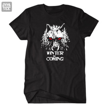 Game of Thrones Song of ice and fire House stark Winter is Coming Dire wolf cool tee short sleeve tshirt t shirt women and men