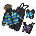 teenager winter set boy sport set 5-10years Children set(coat+vest+pants) Boy windproof warm suit Kid's active set Ski suits