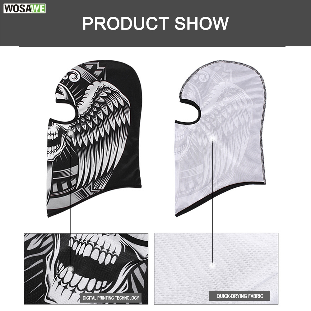 Image 4 - WOSAWE Motorcycle Full Face Mask Sun Protection MOTO Motocross Bandana Motorbike Racing Face Shield mtb Bicycle Balaclava Scarf-in Motorcycle Face Mask from Automobiles & Motorcycles