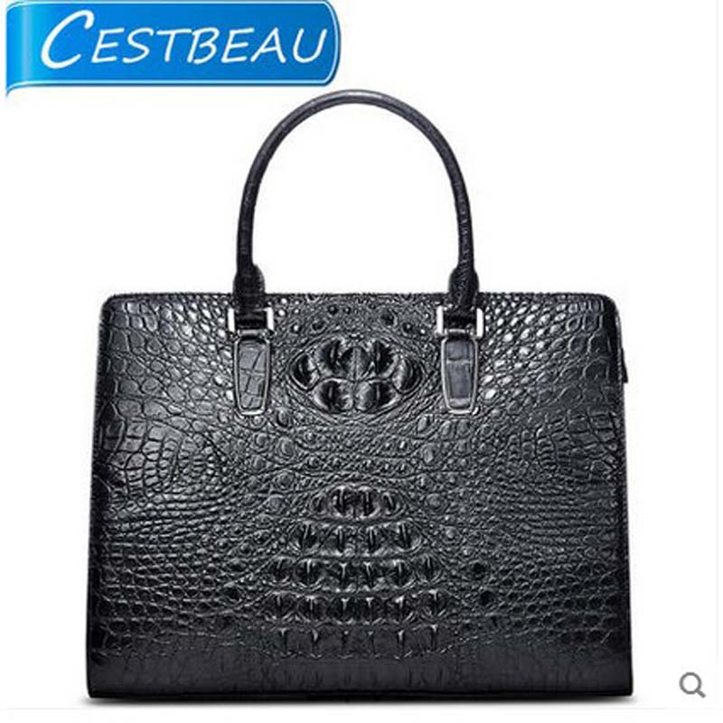 cestbeau new  imported Thai alligator bag  zipper men handbag across crocodile skin men bag karen cvitkovich leading across new borders