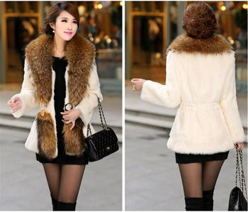 New Winter Women Faux Fur Coat Casual Long Sleeve Jacket Coat Fashion Slim Fur Warm Overcoat Casaco Feminino Plus Size 3XL фото