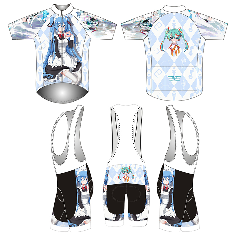 2018 short Sleeve Hatsune Miku Bicycle Cycle Clothing Mens Cycling Jersey set short Sleeve Outdoor Sports Quick Dry MTB jersey 8 topeak outdoor sports cycling photochromic sun glasses bicycle sunglasses mtb nxt lenses glasses eyewear goggles 3 colors