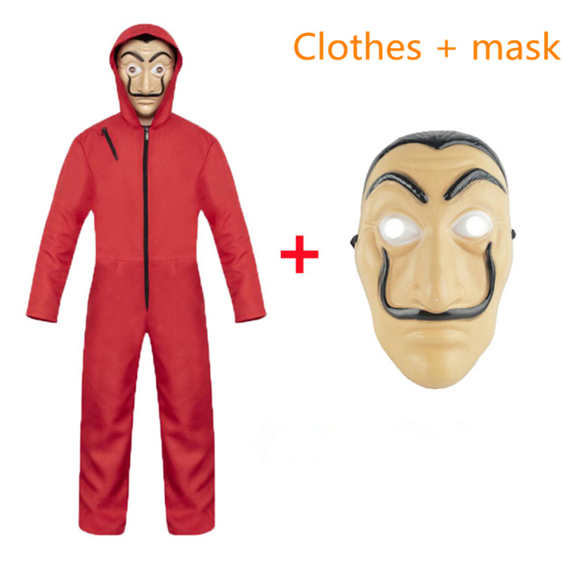 Spain Salvador Dali Movie Costume Robbery Paper House La Casa De Papel cosplay Halloween Party Cosplay Costume and Mask Stage Co(China)