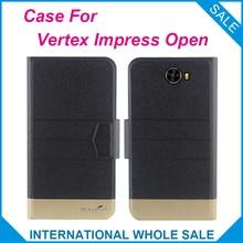 5 Colors Hot! Vertex Impress Open Case Fashion Business Magnetic clasp Flip Leather Exclusive Case For Vertex Impress Open Cover