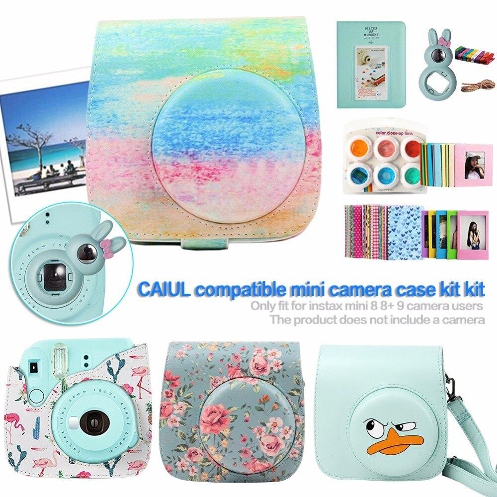 NEW Camera Bag Accessories A Bundle Kit for Fujifilm Instax Mini 8 8+ 9 Protective Case Cover