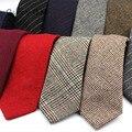 Moda lã gravatas para homem magro sólido casual gravatas corbata magro listrado gravata para presente de casamento terno cravat acessórios